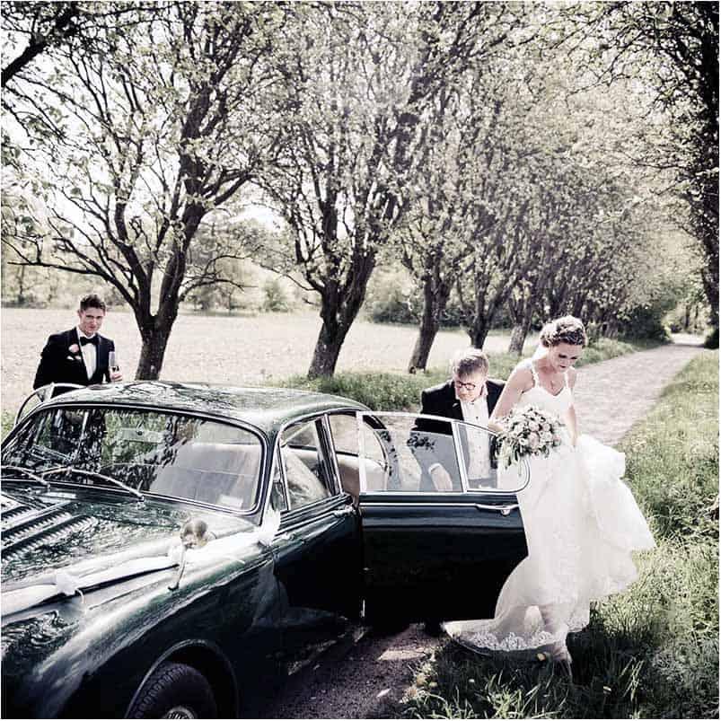 Vi ankommer her til Sonnerupgaard godset til bryllupreceptionen