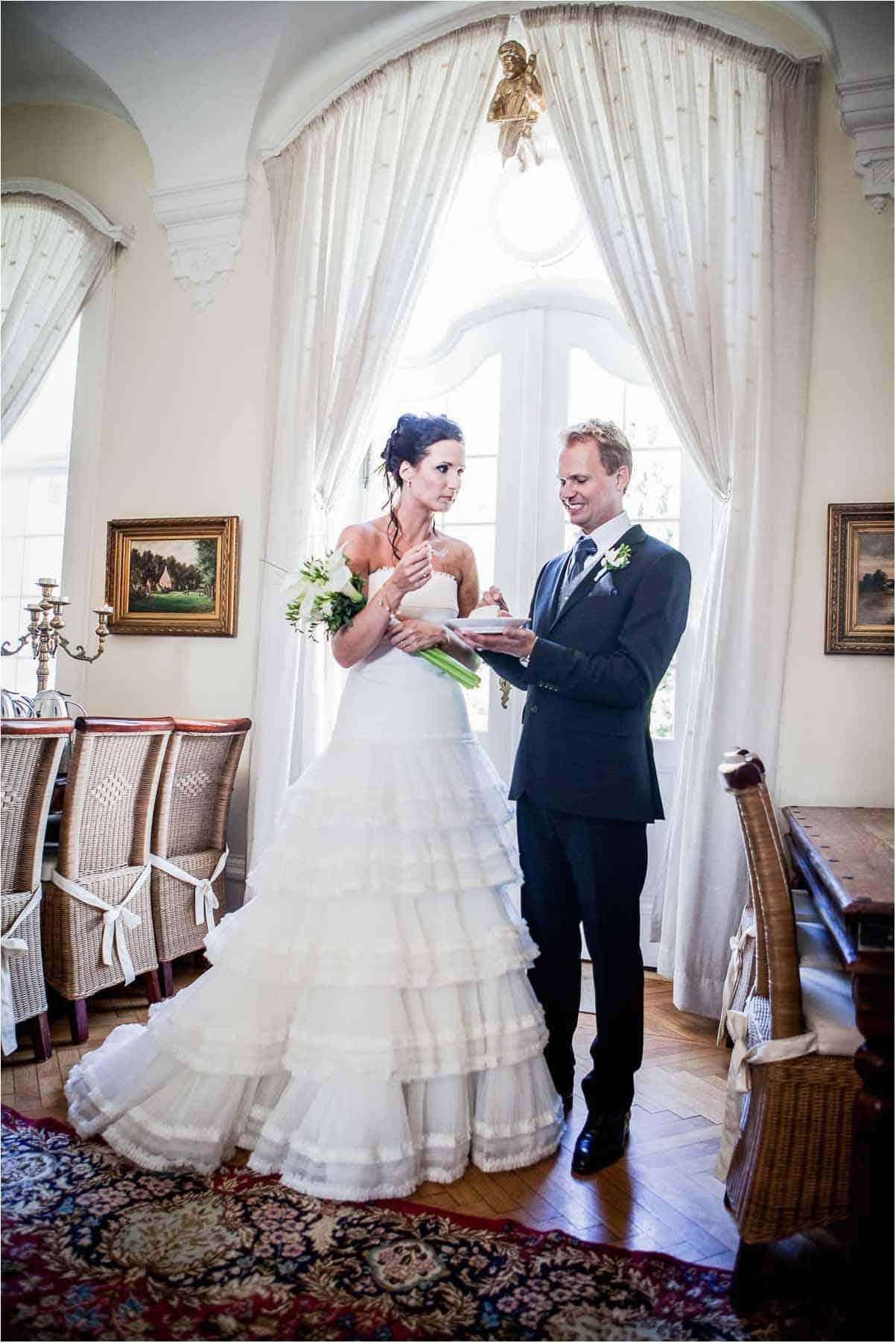 brudepar ved Lunderskov