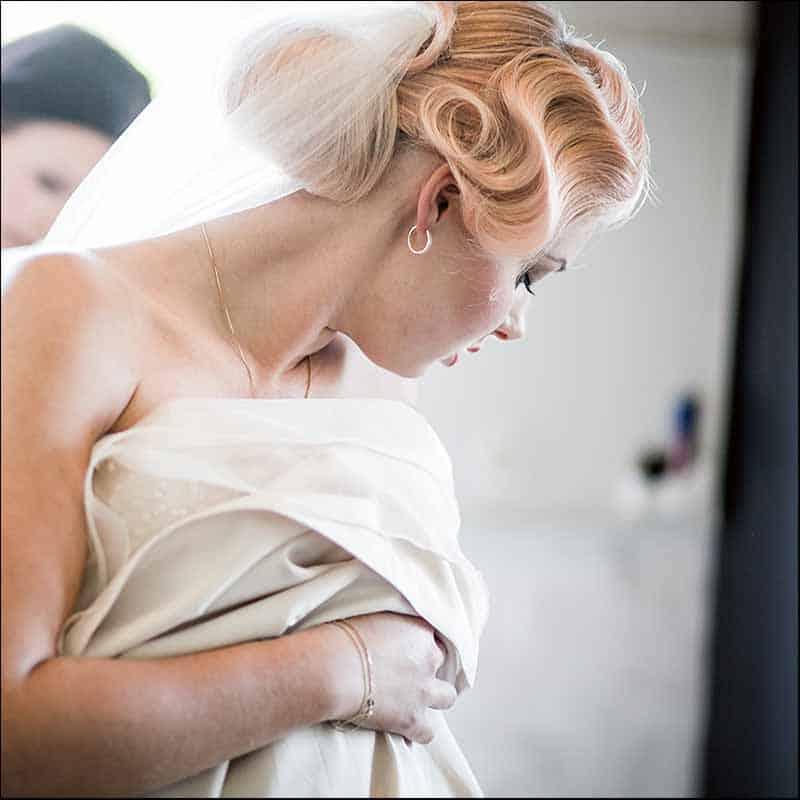bryllupsfoto af forberedelse
