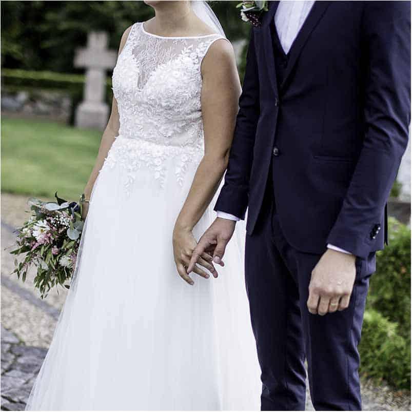 Brudeparets plassering av føttene