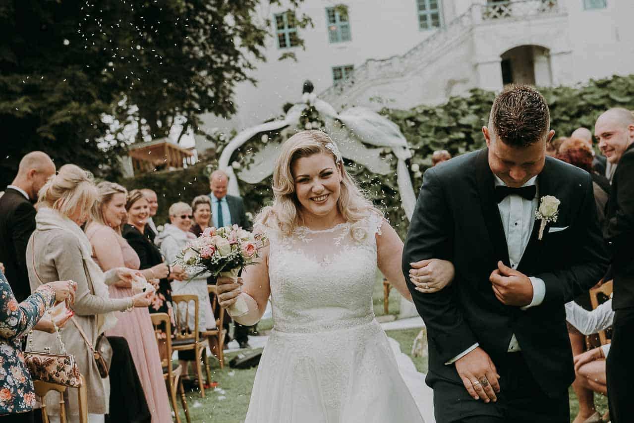 Bryllup på Dragsholm slot. Brud Dragsholm slottet